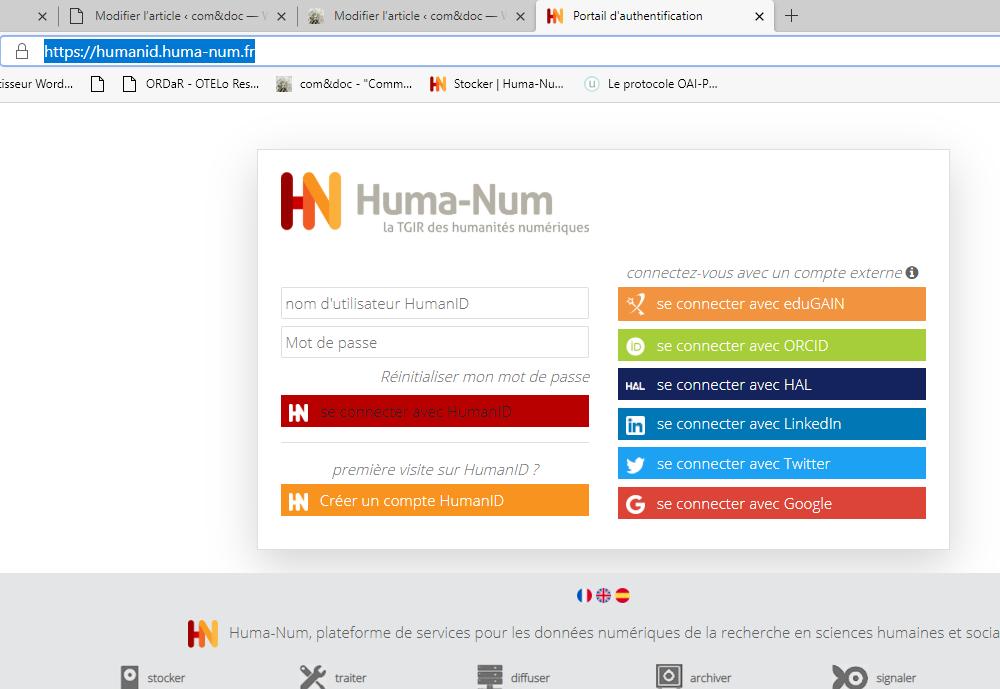 Copie d'écran HumanID